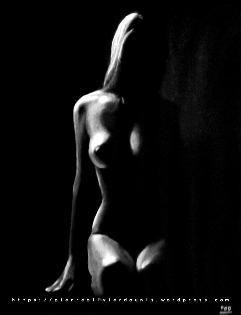 tableau femme nue 17 low key painting
