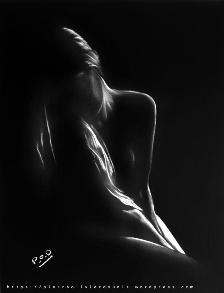 tableau de femme rêveuse nue sexy woman painting