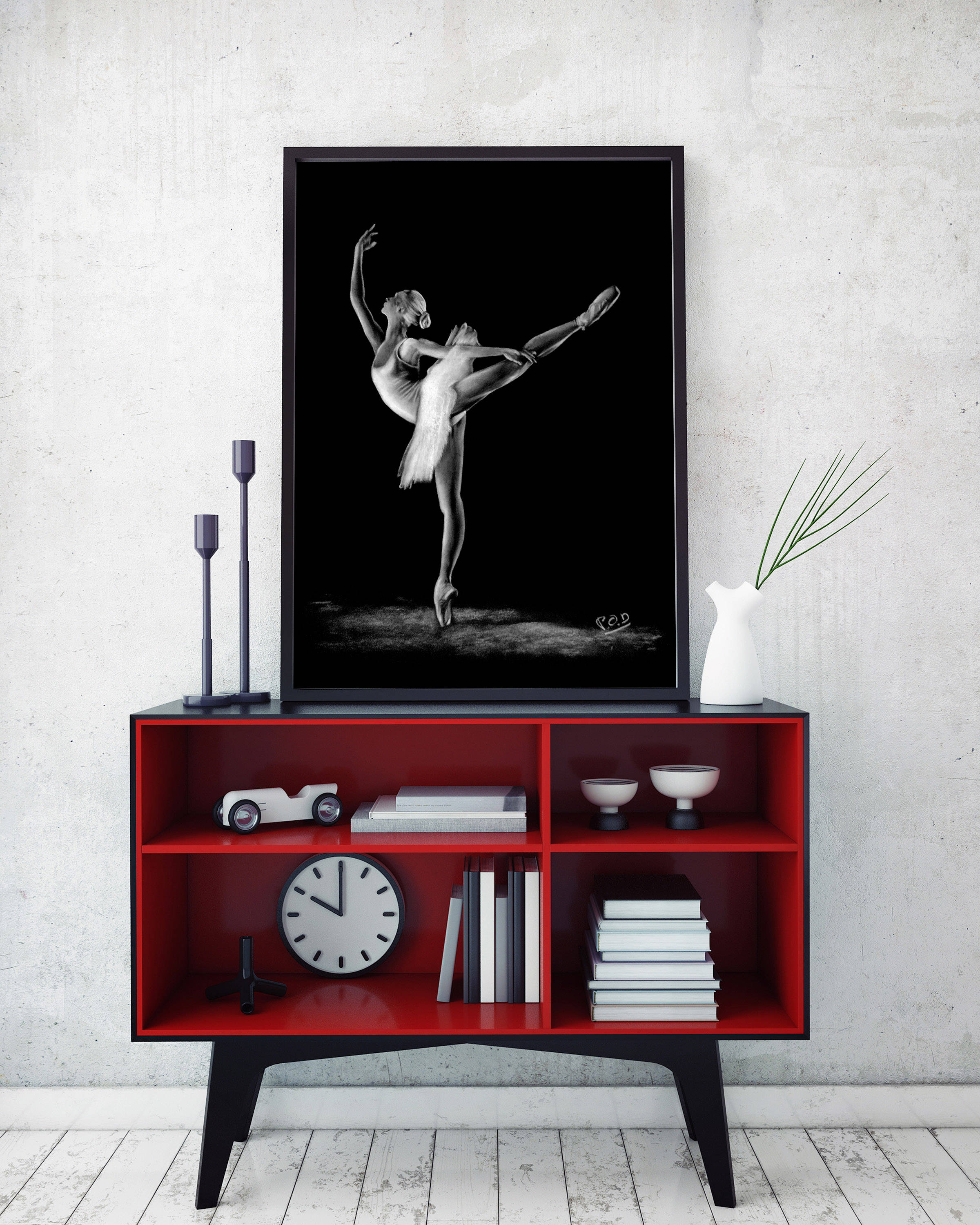 tableau moderne danseuse classique 2 pod painting pierre. Black Bedroom Furniture Sets. Home Design Ideas